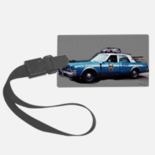New York City Police Car 1980s Luggage Tag