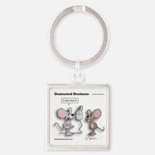 mice_and_mouse Square Keychain
