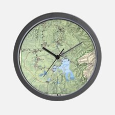 YNP_topographical_map_and_guide Wall Clock