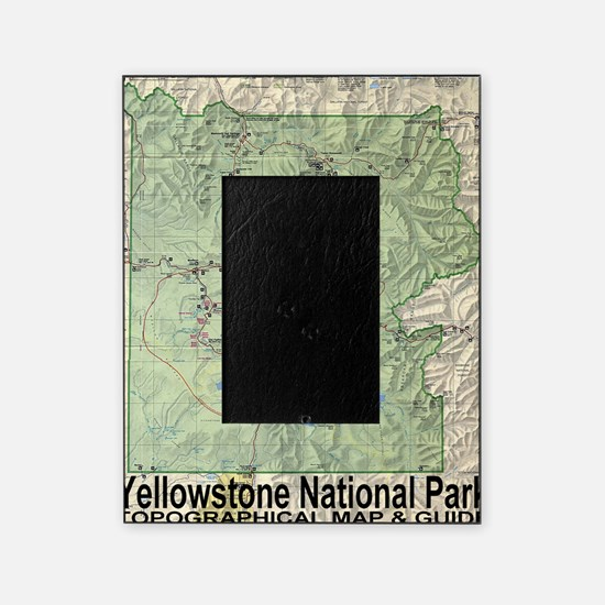 YNP_topographical_map_and_guide Picture Frame
