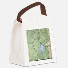 YNP_topographical_map_and_guide Canvas Lunch Bag