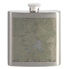 YNP_topographical_map_and_guide Flask