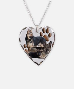 german shepherd family Necklace