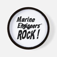 Marine Engineers Rock ! Wall Clock