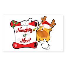 Naughtly or Nice Reindeer Stickers