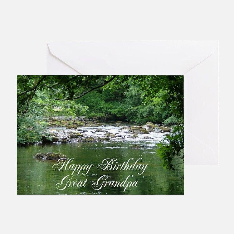 Happy birthday Great Grandpa, tranquil river scene