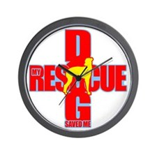rescue dog 02 Wall Clock