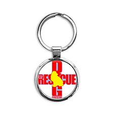 rescue dog 08 Round Keychain