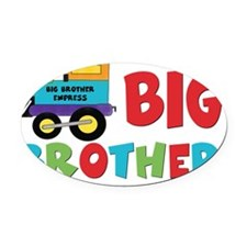 big brother train Oval Car Magnet