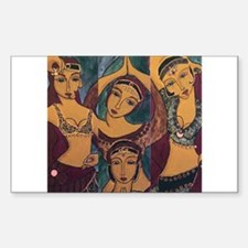 Sisters In Dance Rectangle Decal