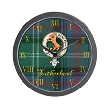Sutherland Clan Badge / Crest / Tartan Clock Wall