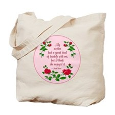 Mark Twain (roses) Tote Bag