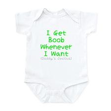 I Get Boob, Daddy's Jealous Infant Bodysuit