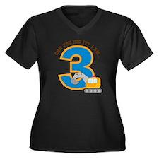 Digger3rdBir Women's Plus Size Dark V-Neck T-Shirt