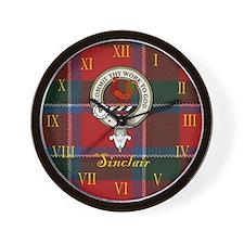 Sinclair Clan Crest / Tartan Wall Clock
