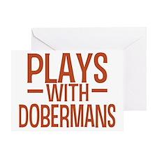 playsdobermans Greeting Card
