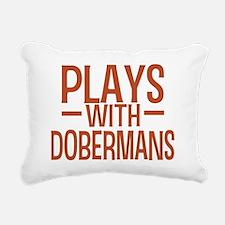 playsdobermans Rectangular Canvas Pillow