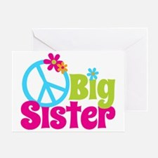 PeaceSignBigSister Greeting Card