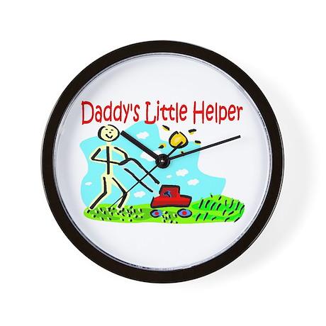 Daddy's Little Helper Wall Clock