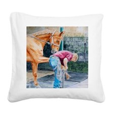 farrierMP Square Canvas Pillow