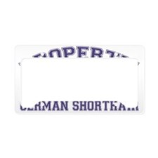germanshorthairproperty License Plate Holder