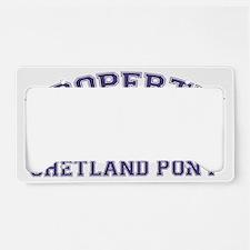 shetlandponyproperty License Plate Holder