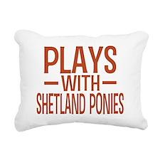 playsshetlandponies Rectangular Canvas Pillow
