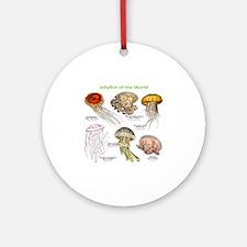 Jellyfish of the World Round Ornament