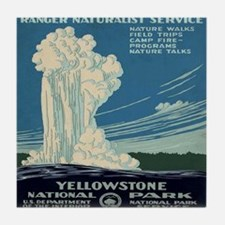 yellowstone-national-park_poster_rest Tile Coaster