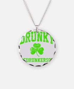 Green Drunky Necklace Circle Charm