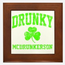 Green Drunky Framed Tile
