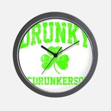 Green Drunky Wall Clock