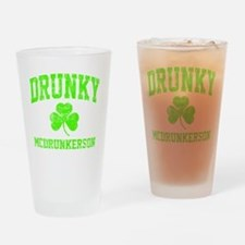 Green Drunky Drinking Glass