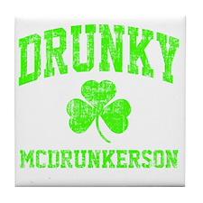 Green Drunky Tile Coaster