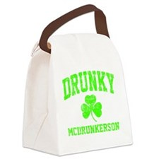 Green Drunky Canvas Lunch Bag