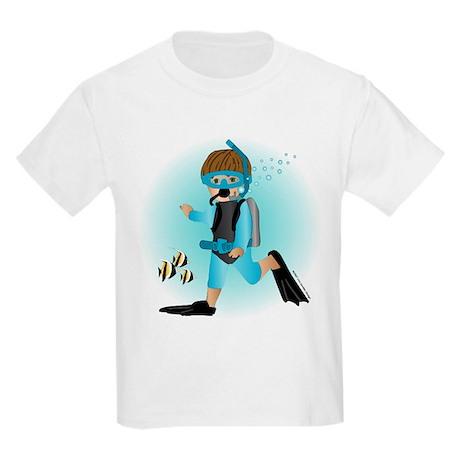 Scuba Boy (brunette) Kids T-Shirt