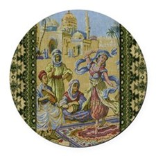 Dance Tapestry Round Car Magnet