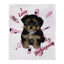 iloveyorkipeoos2 Throw Blanket