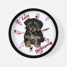 iloveyorkipeoos2 Wall Clock