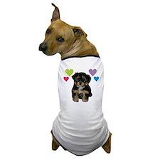 yorkiepoo_colorhearts Dog T-Shirt