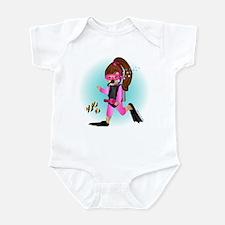 Scuba Girl (brunette) Infant Bodysuit