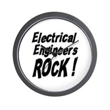 Electrical Engineers Rock ! Wall Clock