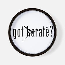 got karate? Wall Clock