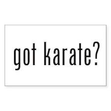 got karate? Rectangle Decal