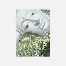 In the Garden - Quan Yin Flowers 5'x7'Area Rug
