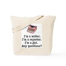 Pink Typewriter Tote Bag