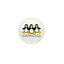 Burning Stare Penguins Mini Button (10 pack)