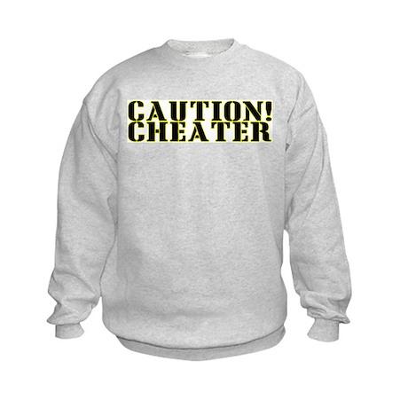 Caution! Cheater Kids Sweatshirt