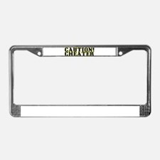 Caution! Cheater License Plate Frame