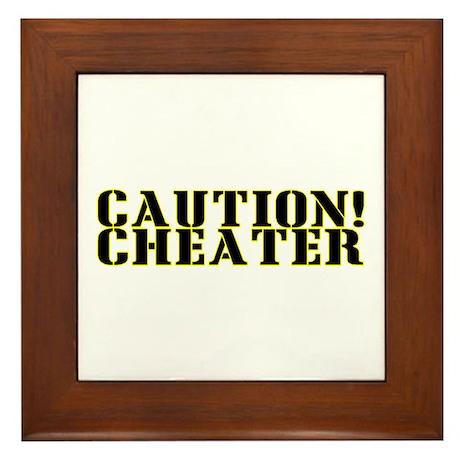 Caution! Cheater Framed Tile